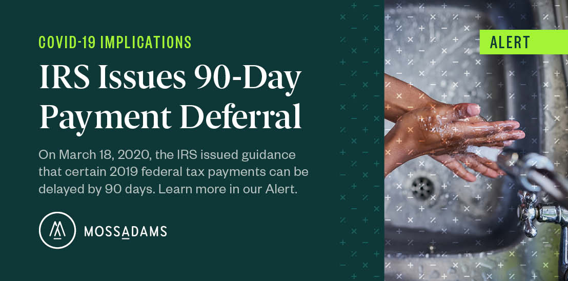 Us Treasury Issues Guidance On Payment Deferral
